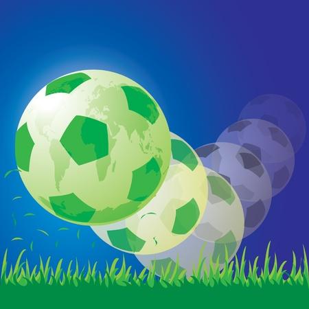 world soccer football Stock Vector - 14017904