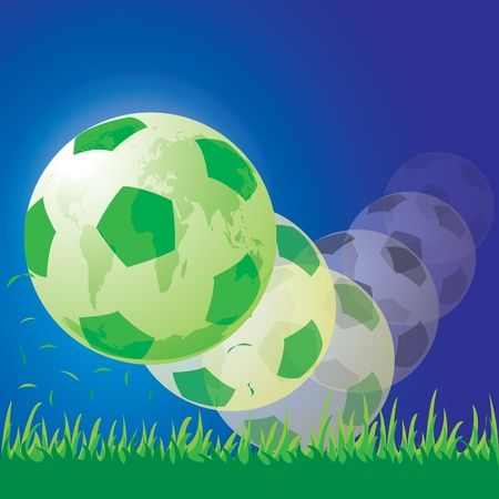 world soccer football Stock Vector - 14017904