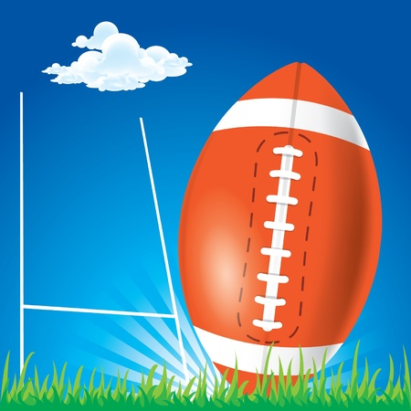 Rugby football Stock Vector - 14178624