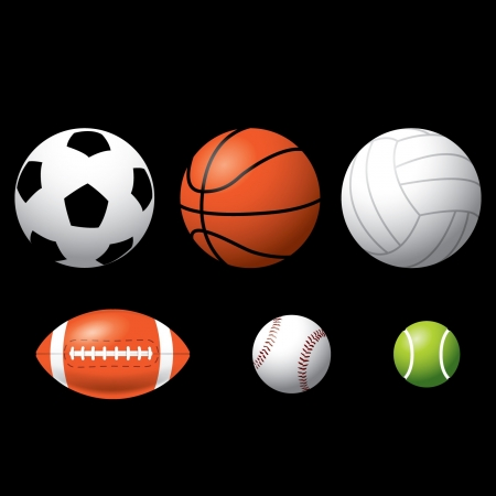 team sports: Sport Balls Illustration