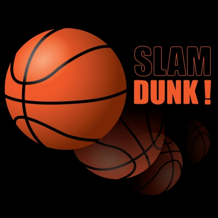 pick light: Basketball Slam Dunk! Illustration
