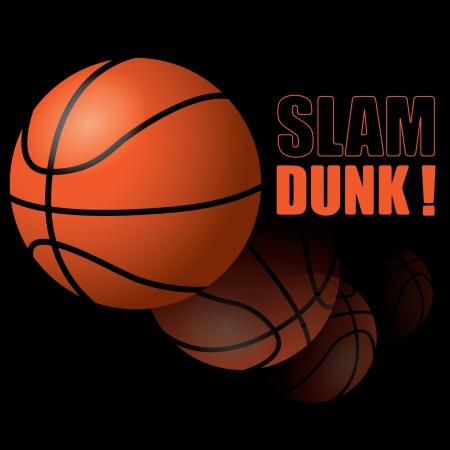 slam dunk: Basketball Slam Dunk! Illustration