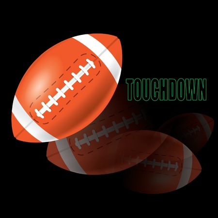 American Football Touchdown Stock Vector - 14187174