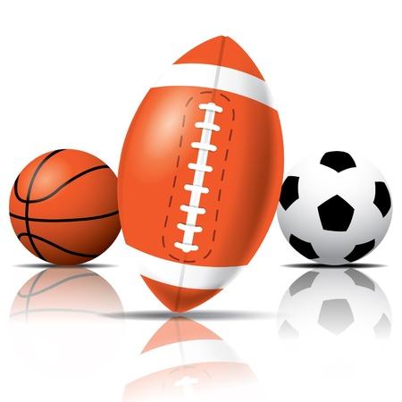 equipe sport: Boules Sport Illustration