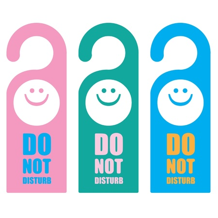 Signs Do not Disturb Stock Vector - 14179975
