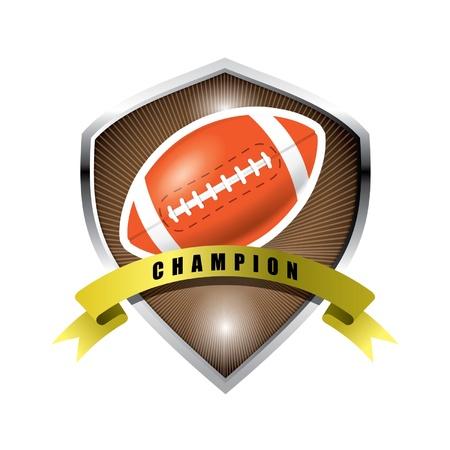 American football badge Stock Vector - 14387433