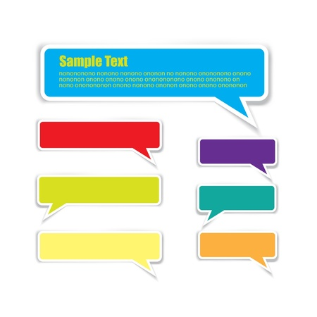 bubble text message Vector