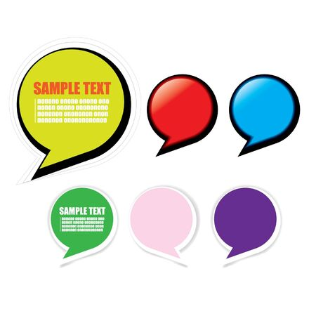 bubble text message Stock Vector - 14387410
