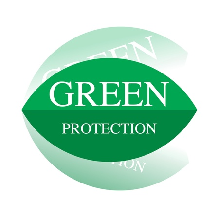 drive around the world: Green protection Illustration