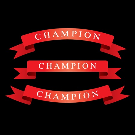 Red Ribbons champion Stock Vector - 14387375