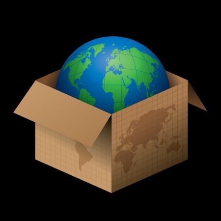 Open the world Stock Vector - 14387426