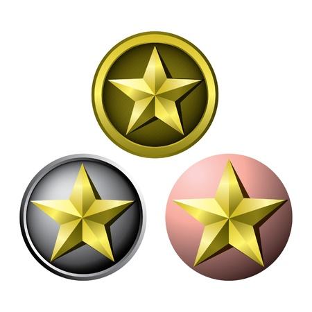 Award star medals