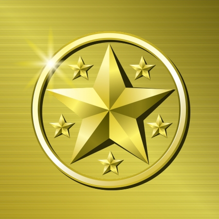 Gold star Stock Vector - 14387435