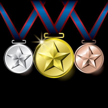 Star medals Stock Vector - 14387396