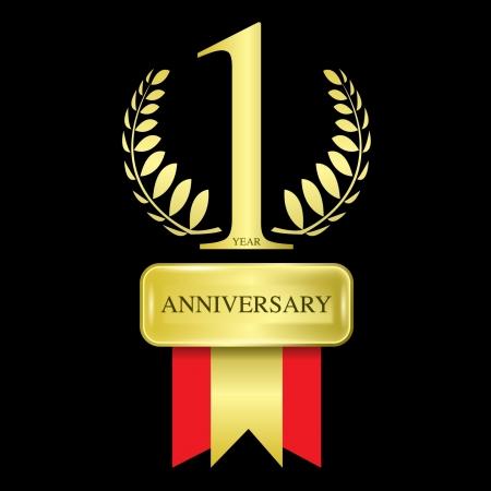 1 year anniversary Vector