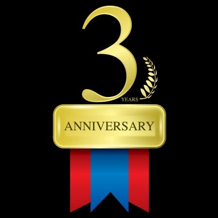 3 years anniversary Vector