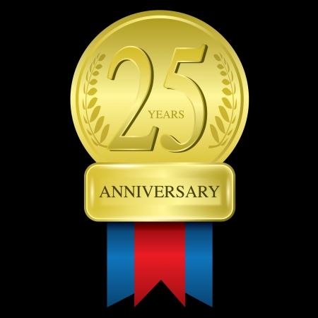 25 anni di anniversario Archivio Fotografico - 14442696