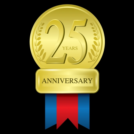 25 years anniversary Vector
