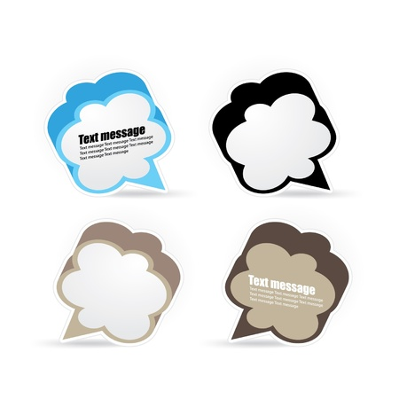 speech bubble set Stock Vector - 14495025