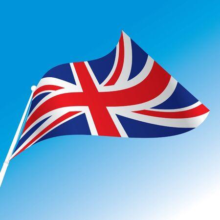 bandera uk: oficial de la bandera de Gran Bretaña Vectores