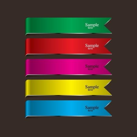 Colorful ribbons 矢量图像