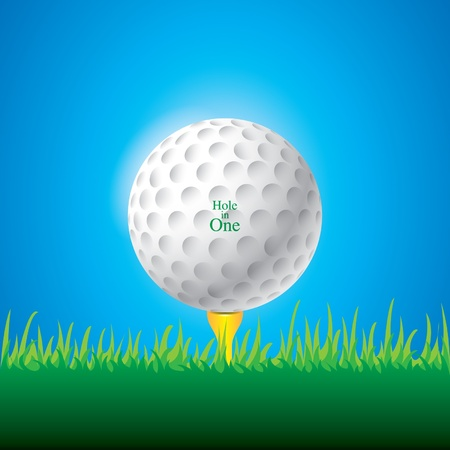 illustration of golf ball Illustration
