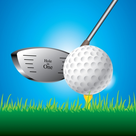 putting: illustration of golf ball Illustration