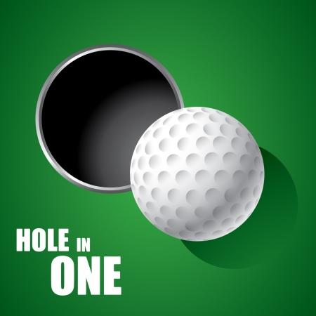 Golf ball: Pelota de golf en el borde del agujero