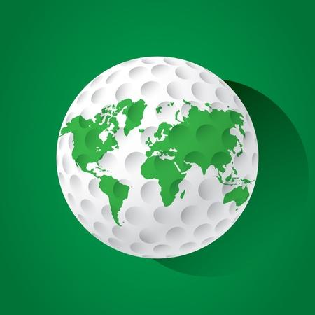 World golf ball Vector