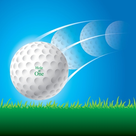 illustration of golf ball Vector