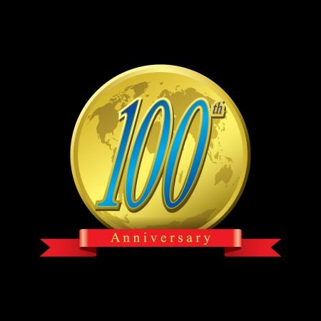 100 years anniversary Vector