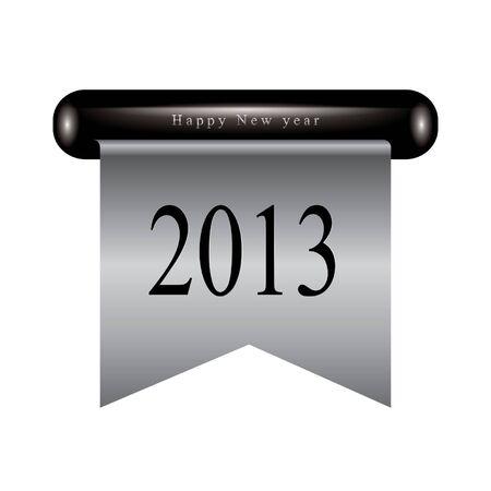 Happy new year ribbon Stock Vector - 14678615