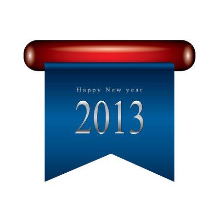 Happy new year ribbon Stock Vector - 14678614