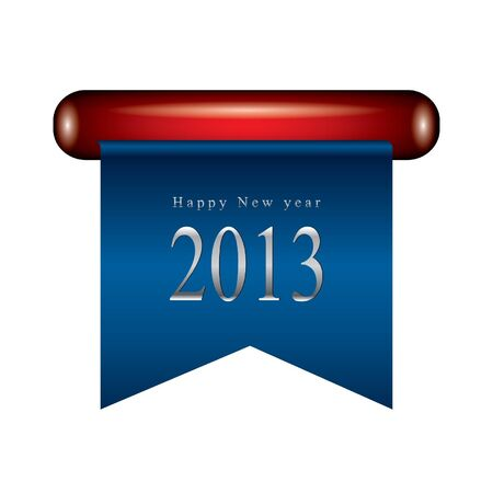 titanium: Happy new year ribbon Illustration