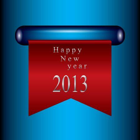 Happy new year ribbon Vector