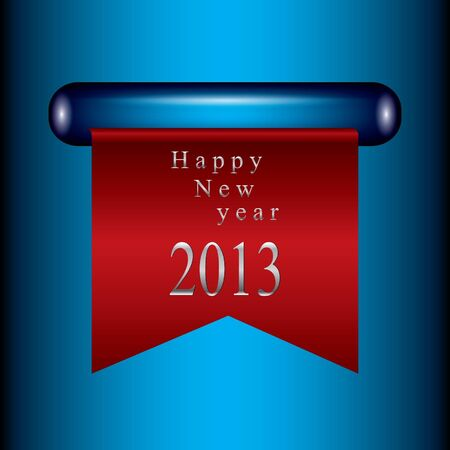 Happy new year ribbon Vector