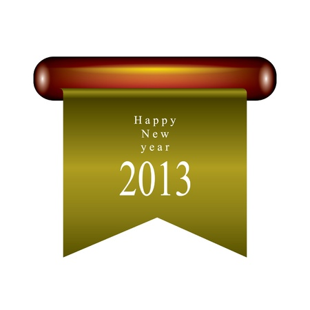 Happy new year ribbon Stock Vector - 14678616
