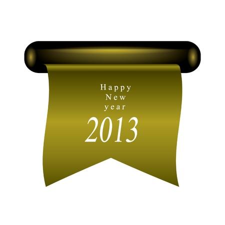 Happy new year ribbon Stock Vector - 14678617