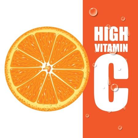 Orange High Vitamin C  Illustration