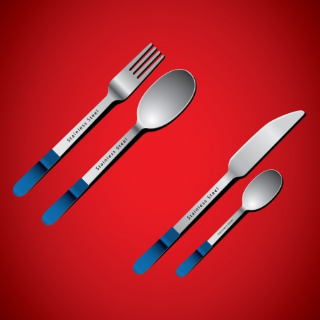 arranging: cutlery set with fork, knife and spoon