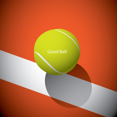 excercise: A tennis ball on the line Illustration