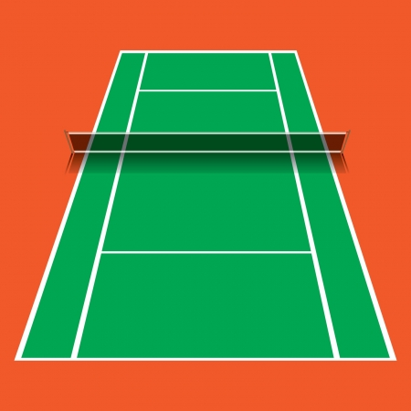tennis serve: Tennis court