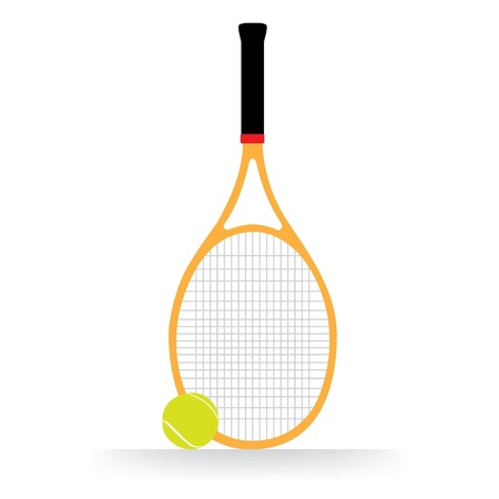 Tennis racket and ball 矢量图像