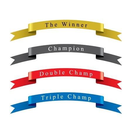 Vincitore Champion Ribbon set Archivio Fotografico - 15143906