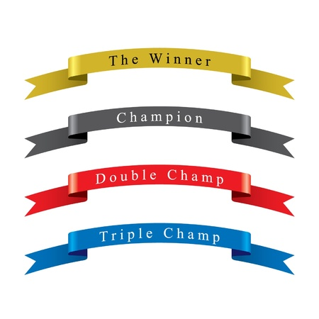 Winner Champion Ribbon set 免版税图像 - 15143906