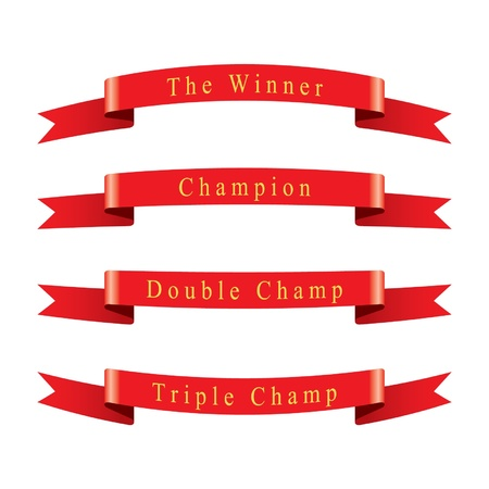 Winner Champion Ribbon set  Illustration