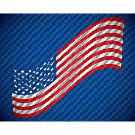 USA Flag Blue Jean vector Vector
