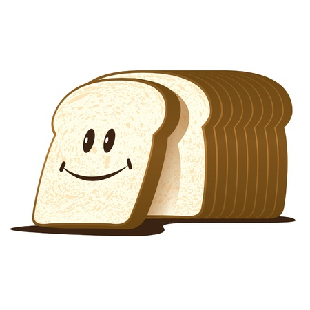 The cut loaf of bread vector