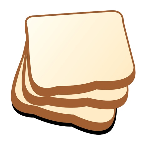 wholemeal: The cut loaf of bread vector