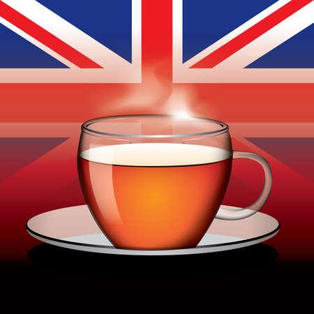 english tea: Cup of English tea vector Illustration